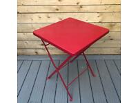 Retro Style Painted Metal Folding Cafe / Bistro Table - great quality