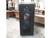Prism server cabinet on castors