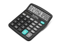 NEW: Calculator,TechRise Dual-Powered Standard Function Desktop Calculator for Office and Bussiness