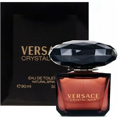 VERSACE CRYSTAL NOIR 3.0 EDT for WOMEN 90ml SPRAY AUTHENTIC NEW IN RETAIL BOX