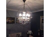 Beautiful foucalt chandelier - stunning piece to brighten any room!