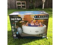 Lay Z Spa Paris Hot Tub 6 Person Lazy Inflatable NEW (Like Vegas Helsinki Cancun St Moritz)
