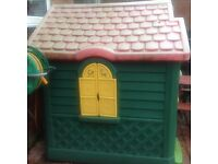 Large play house has had lots of use some writing on it which should clean off ... offers