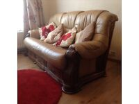 Leather quality 3 piece suite.