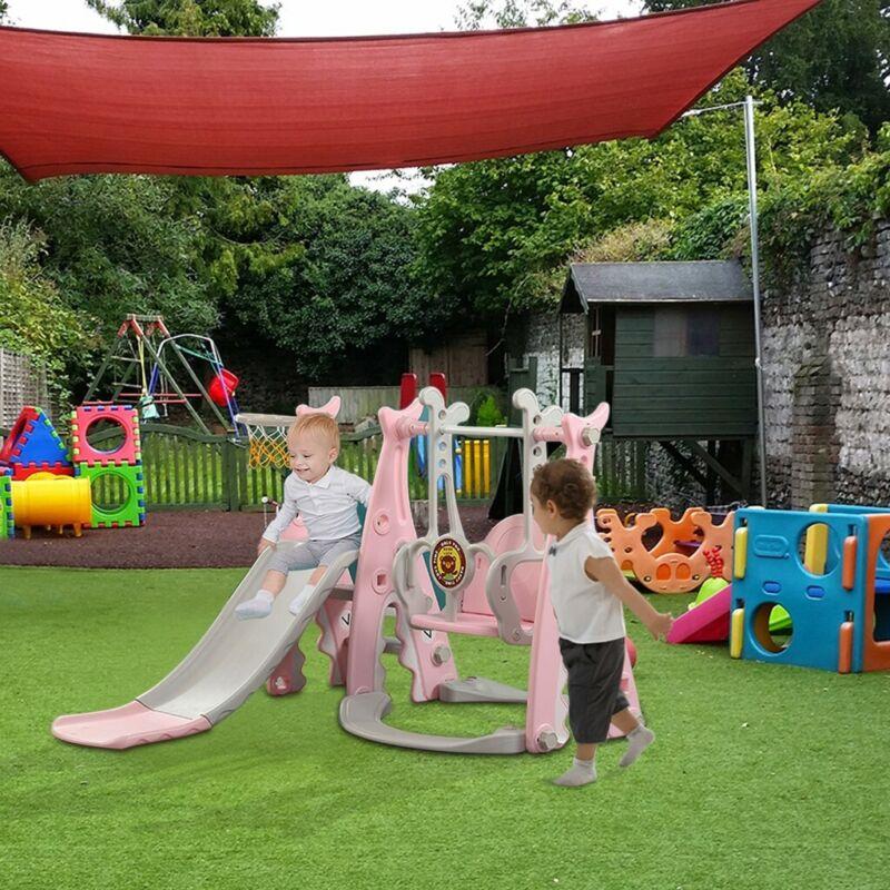 Toddler playground Swing Slide Set Backyard W/Basket Kit Fun