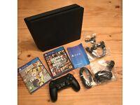 PS4 Slim 500gb Boxed w/GTA5 and FIFA 17