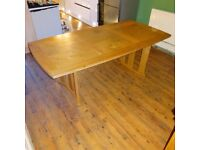 OAK Dining Table. Disassembled, ready for collection.