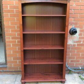2 no. solid wood bookshelves