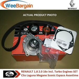 RENAULT Clio III Laguna Megane II III 2.0 16v Timing/Cam Belt Kit and Water Pump