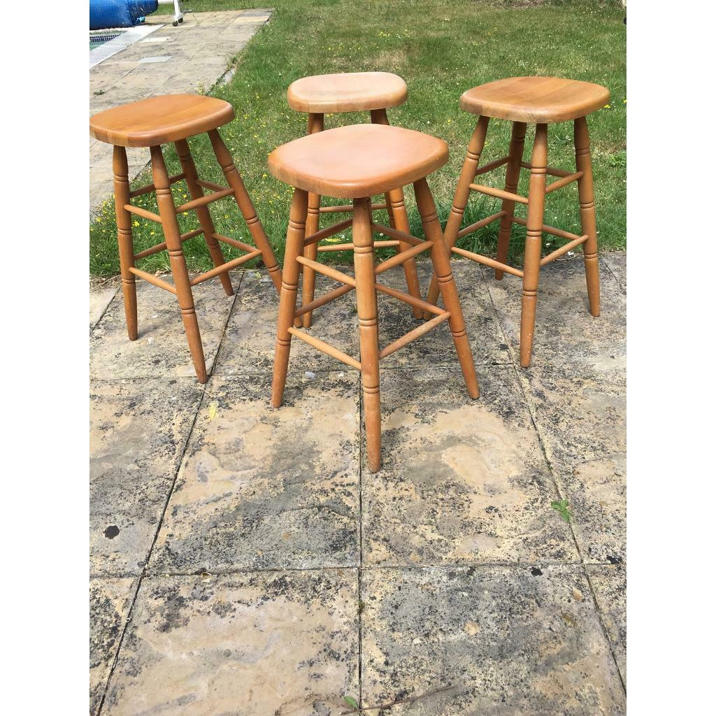 Swell Wooden Bar Stools X4 For Sale In Burnham On Crouch Essex Gumtree Forskolin Free Trial Chair Design Images Forskolin Free Trialorg