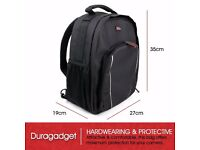 DURAGADGET High Quality Water Resistant Nylon Rucksack with Adjustable Padded Interior & Rain Cover