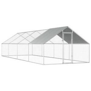 Outdoor Chicken Cage 2.75x8x1.92 m Galvanised Steel PJ3DL-170791