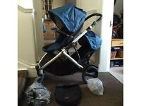 Convertible double/single pram - Britax B-Ready with all accessories and extras!!!!