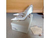 Dune Ivory Satin Wedding Shoes Size 39