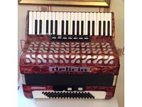 Lovely piano accordion 37 key 80 bass Red