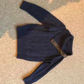 £3.50 lovely Autograph Navy jumper 5-6 yrs