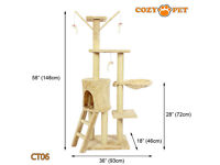 cat trees beige or grey - reduced to £22.50 to clear - cat scratchers