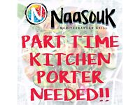 Part time kitchen porter required for new start up! Exciting challenge!!!!