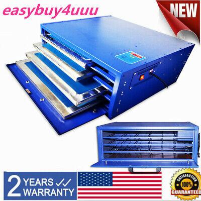 800w 21x 25 Silk Screen Printing Drying Cabinet 4 Layers Warming Exposure Unit