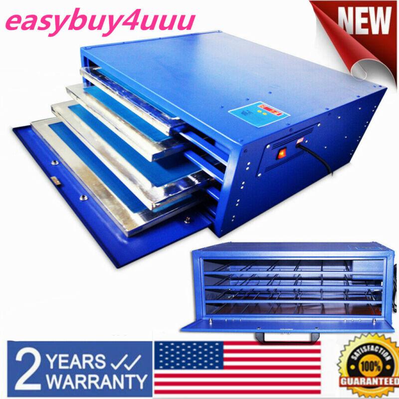 "800W 21x 25"" Silk Screen Printing Drying Cabinet 4 Layers Warming Exposure Unit"