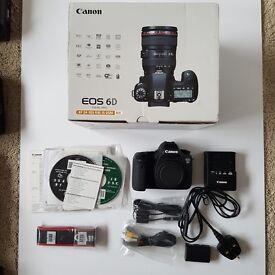 Canon EOS 6D 20.2MP Digital SLR Camera - Black (Body only) NEAR MINT IN BOX