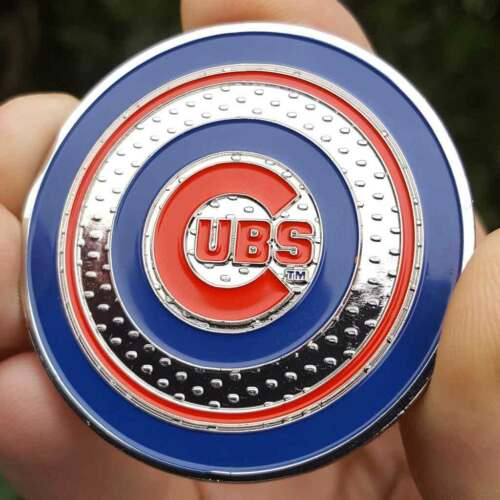 PREMIUM MLB Chicago Cubs World Series 2016 Coin Golf Maker Poker Chip Card Guard