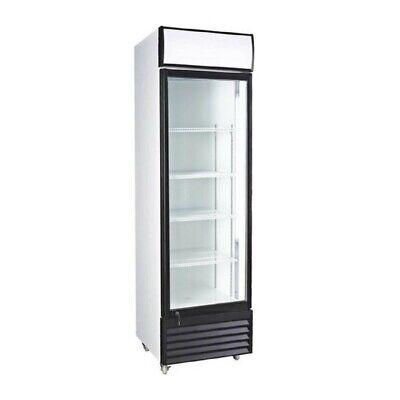 Glass Door Upright Display Beverage Cooler Merchandiser Refrigerator