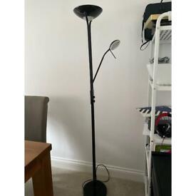 Tall dual bulb floor lamp