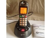 Geemarc Amplidect 285 , cordless amplified landline phone with answer machine , used