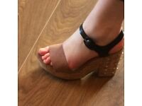 Next wedge sandal shoes size 6 with stud design on heel..worn once..as new..look lovely on..