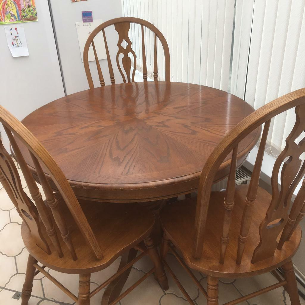 Sensational Dining Table And Four Chairs Leekes In Gowerton Swansea Gumtree Home Interior And Landscaping Palasignezvosmurscom