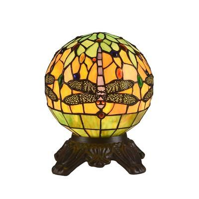 Stained Glass Dragonfly 1 Light Round Table Lamp Chloe Lighting CH3T169RD08-TL1 (1 Light Table Lamp)