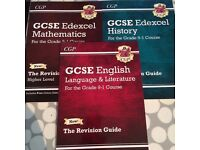 GCSE Edexcel Revision Guides for Maths, English and History for Grade 9-1 Course - UNUSED
