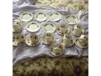6 Plates and 9 Tea Cup and Saucers from the Finest Bone China Sheridan Set