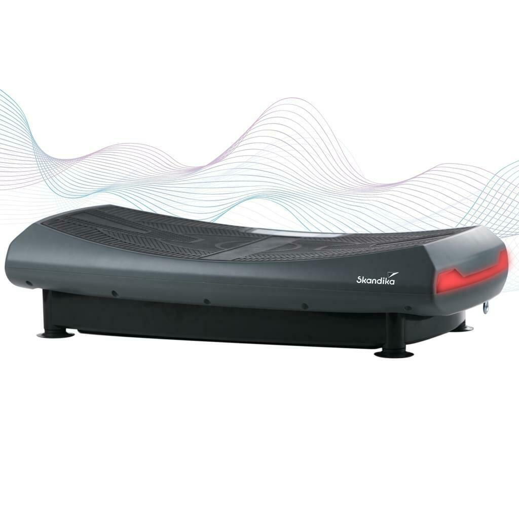 skandika Home Vibration Plate V2000 Vibrationsplatte 4D-Vibration, Grau