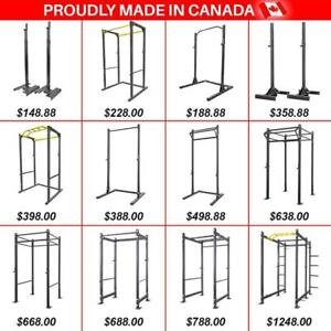 MADE in CANADA Power Rack Racks Full Cage Squad Stand Stands Half Monkey Rack Rig Tower Steel Weightlifting Powerlifting, used for sale  Swift Current