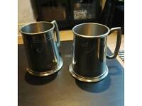 Couple of Traditional 1 pint Beer Tankards