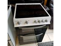 White and black ceramic top cooker ( 60 wide )