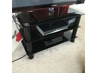 Black Glass TV Stand / Unit