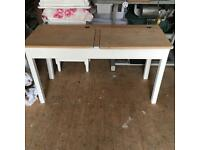 Child's double solid wood desk