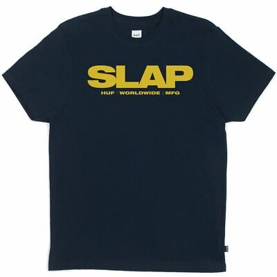 NWT Huf WorldWide x Slap Magazine T-Shirt Navy Blue