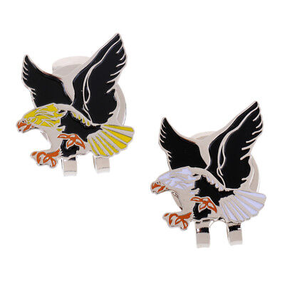 New Cool Eagle Alloy Golf Ball Marker Magnetic with Hat Clip Golfer Gift (Cool Ball Marker)