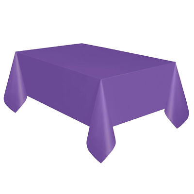 Neon Purple Plastic Table Cover - Rectangle - Neon Table Covers