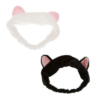 2pcs Set Haarband Stirnband Haarbänder Haarschmuck Haarreifen mit Katze-Ohr