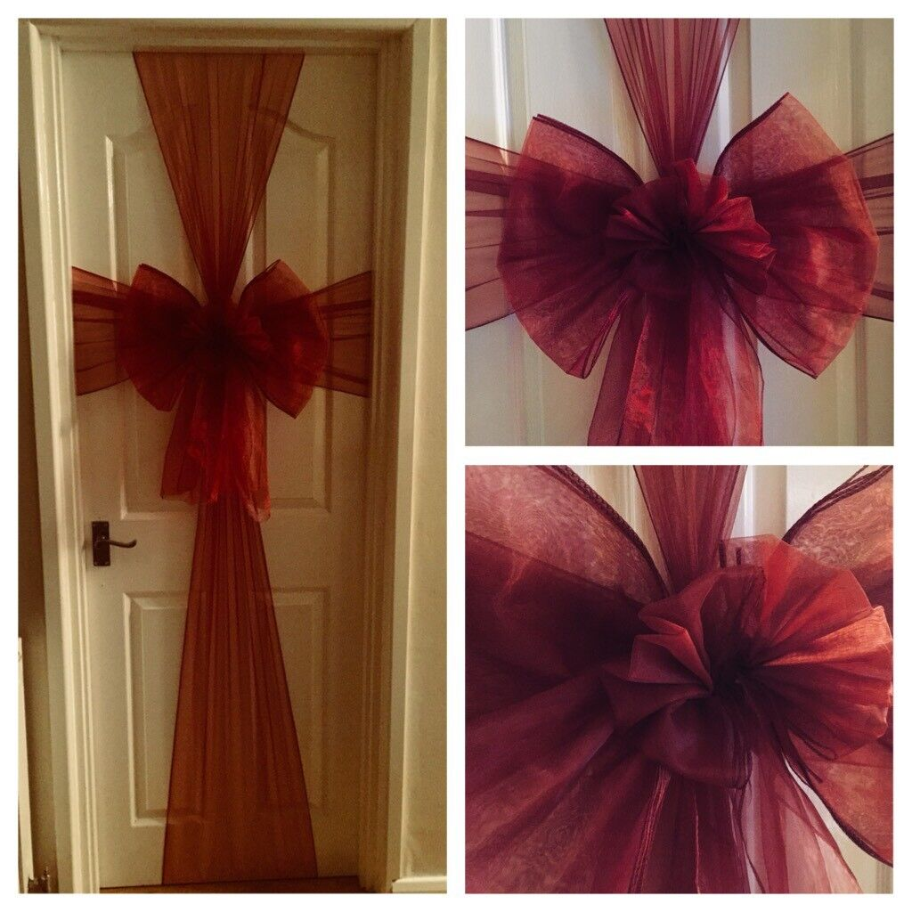 CHRISTMAS FRONT DOOR BOW DECORATION