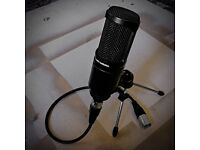 AUDIO-TECHNICA AT2020 CARDIOID CONDENSER MICROPHONE KIT