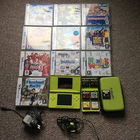 Nintendo ds lite and 17 games
