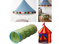 Ikea play tent, tunnel and canopy