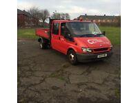 Ford transit crew cab tipper lwb