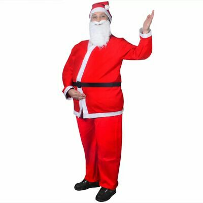 vidaXL Nikolauskostüm 5-tlg. Weihnachtsmann Weihnachtsmannkostüm - Schwarzer Weihnachtsmann Kostüm